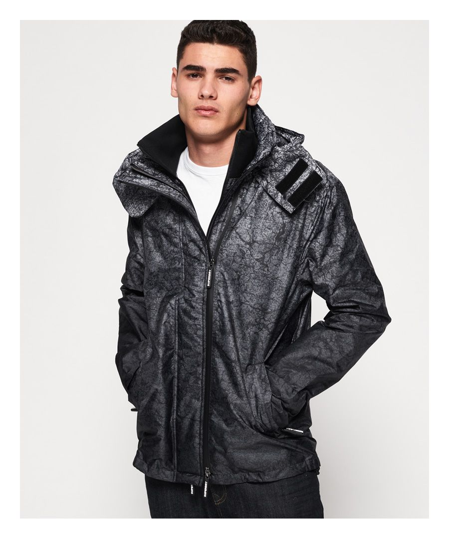 Image for Superdry Hooded Print Pop Zip SD-Windcheater Jacket
