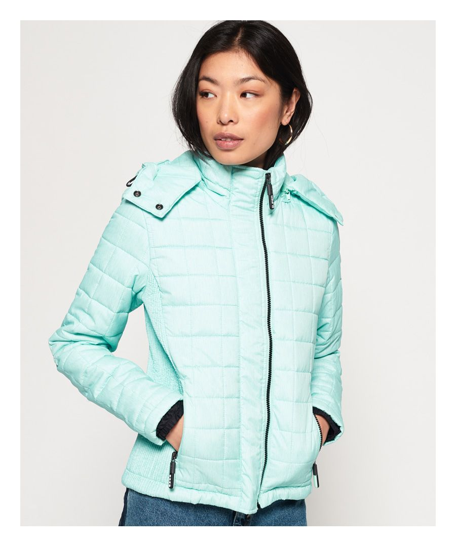 Image for Superdry Hooded Box Quilt Fuji Jacket
