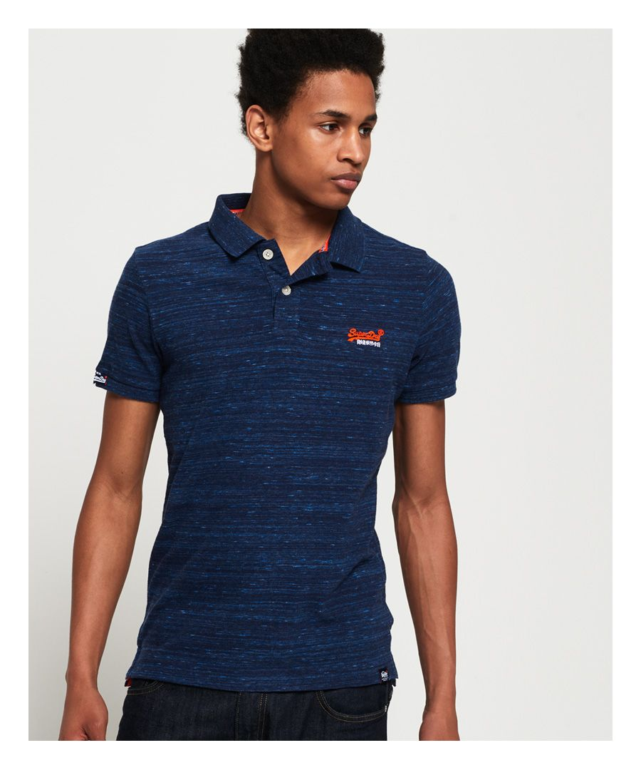Image for Superdry Orange Label Jersey Polo Shirt