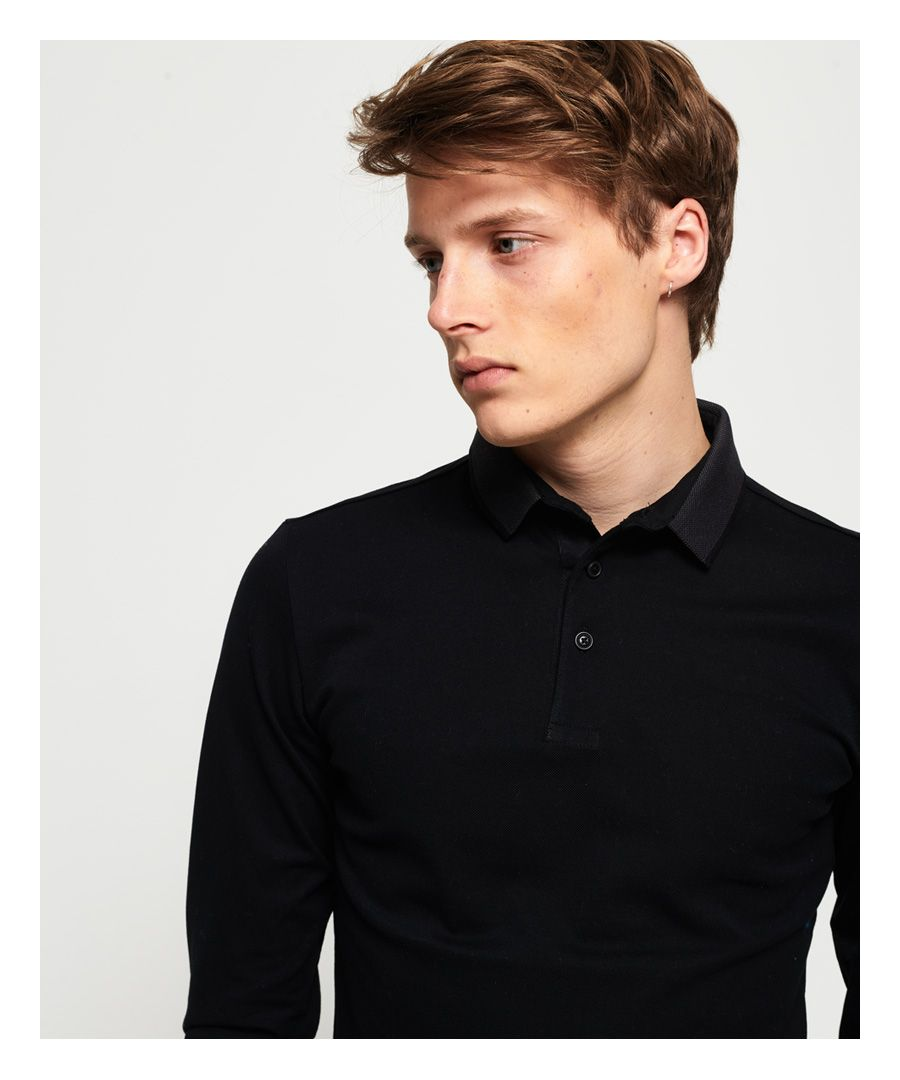 Image for Superdry Edit Long Sleeve Polo Shirt