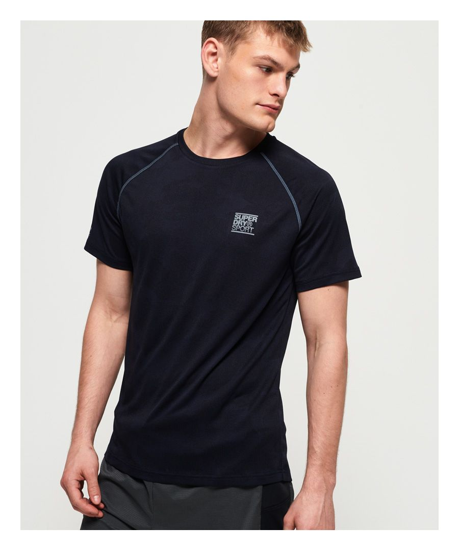 Image for Superdry Active Loose Camo Jacquard T-shirt