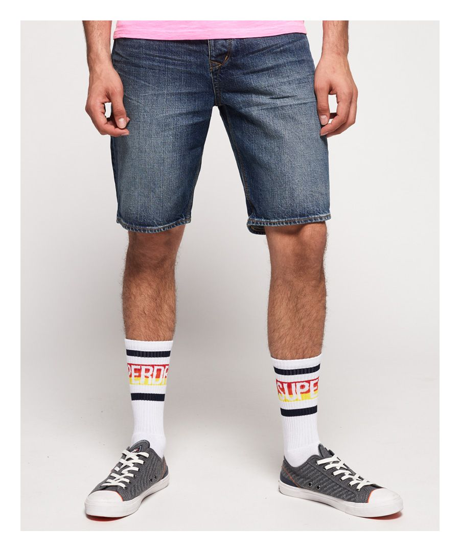 Image for Superdry Biker Denim Shorts
