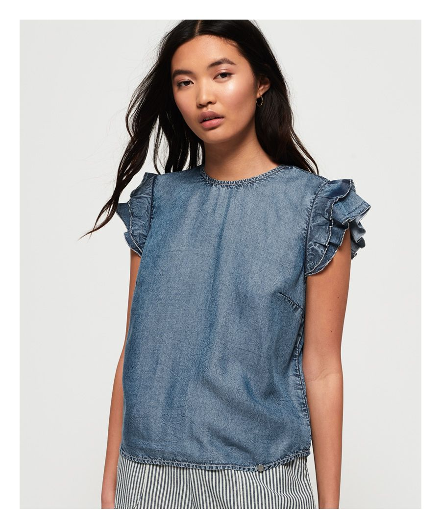 Image for Superdry Christa Ruffle Top