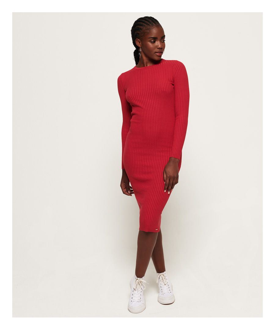 Image for Superdry Anne Rib Bodycon Dress