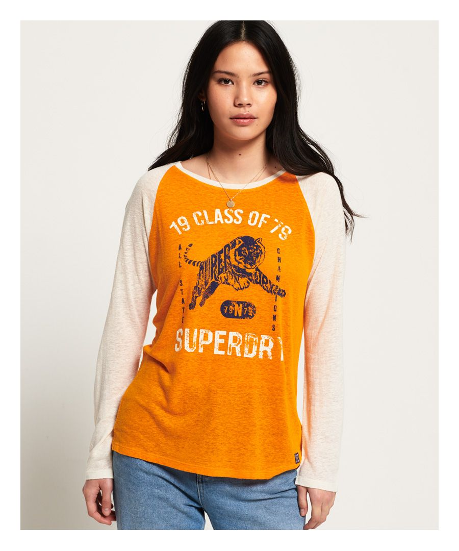 Image for Superdry Linen Baseball Top