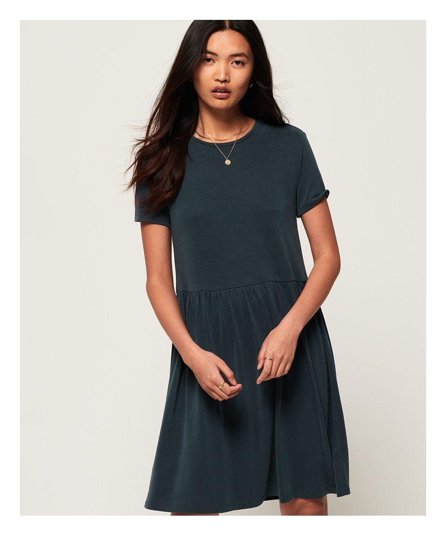 Image for Superdry Smocked T-Shirt Dress