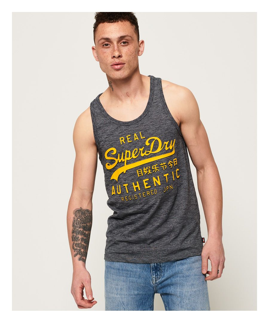 Image for Superdry Vintage Authentic Embossed Print Vest Top