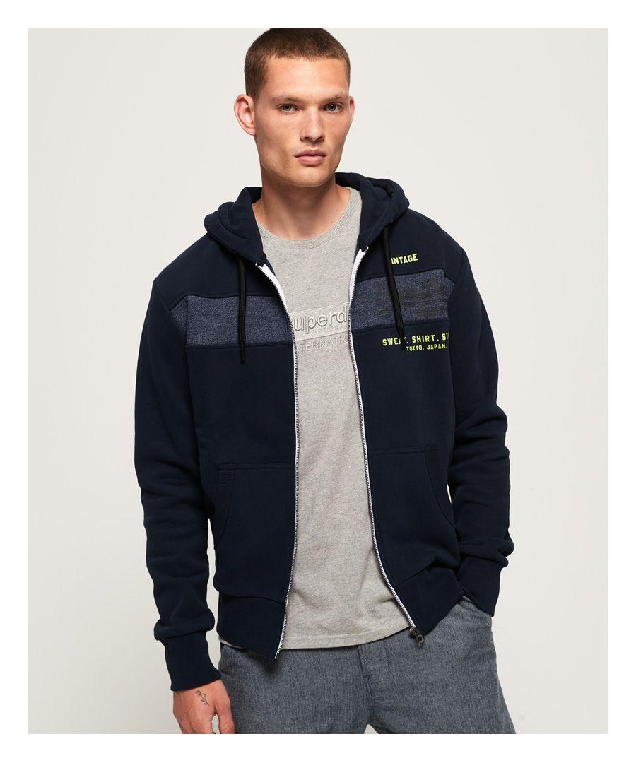 Image for Superdry Sweat Shirt Shop Magma Panel Zip Hoodie