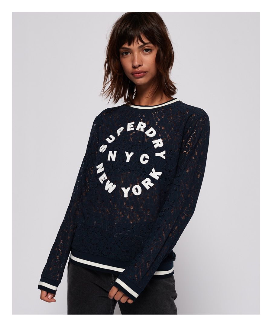 Image for Superdry Lace Tipped Rib Top