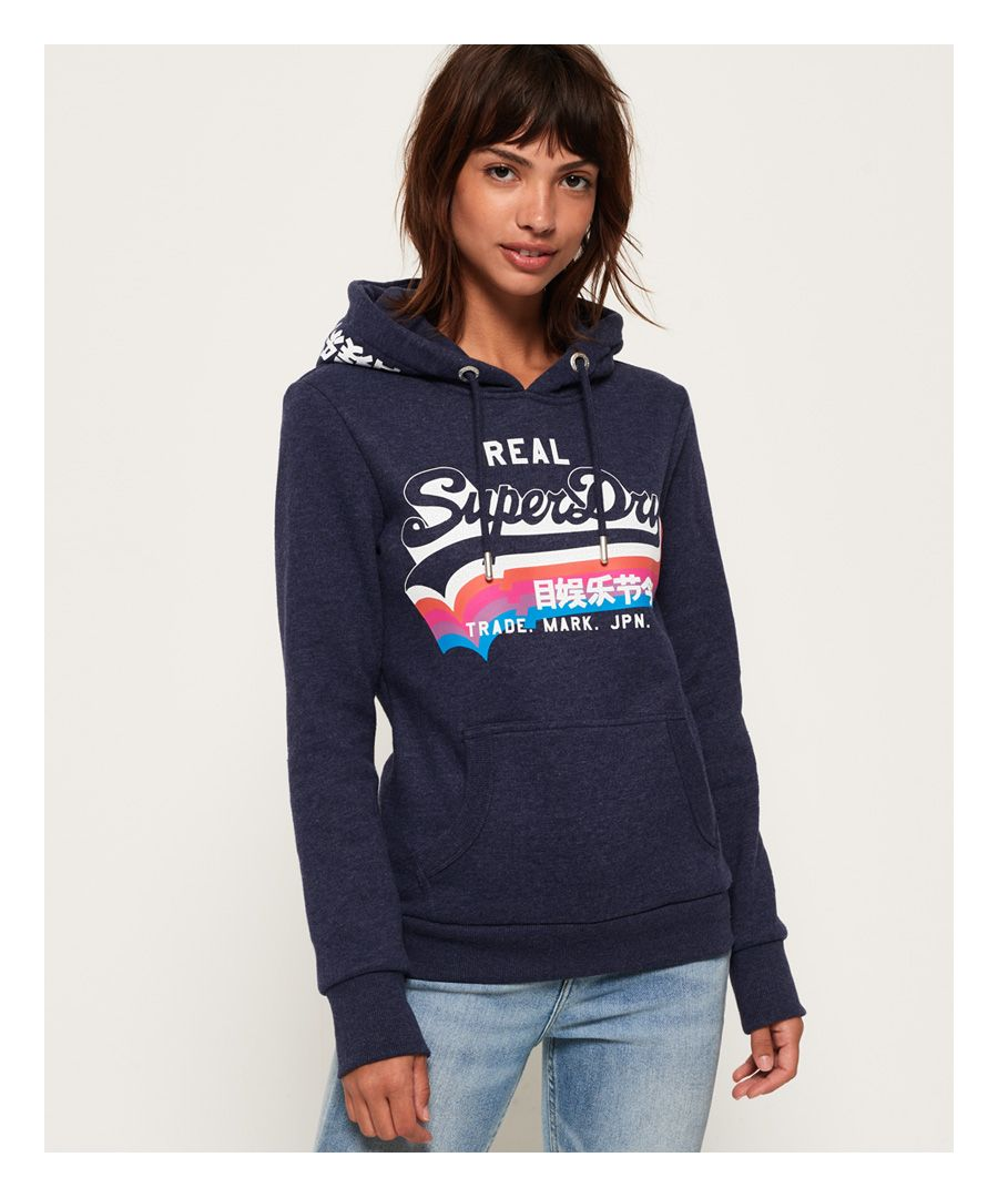 Image for Superdry Vintage Logo Rainbow Shadow Hoodie