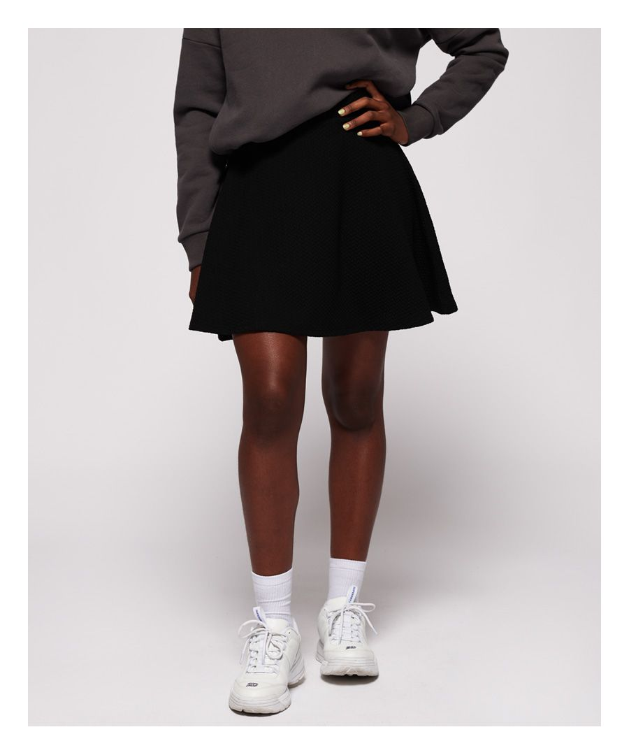 Image for Superdry Textured Skater Skirt