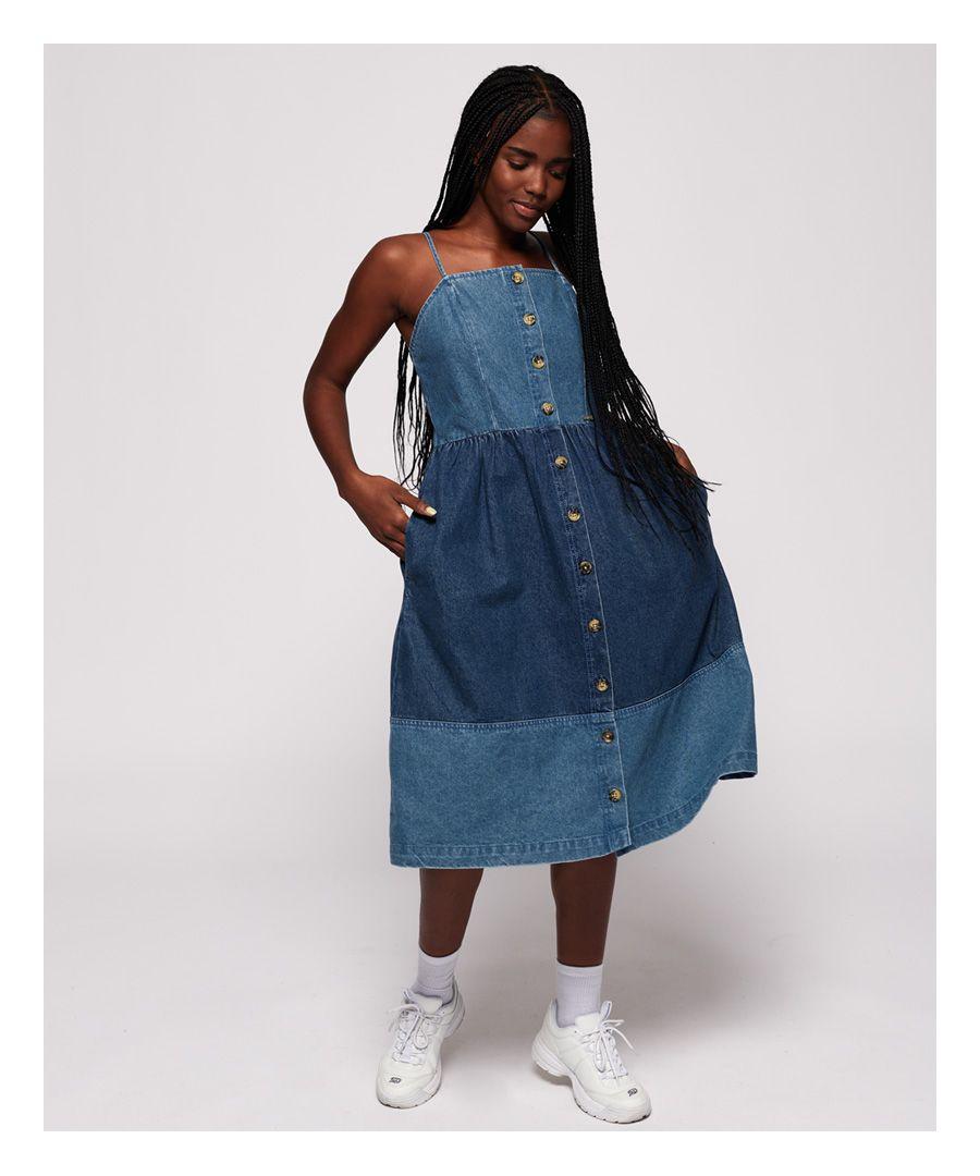 Image for Superdry Denim Midi Dress