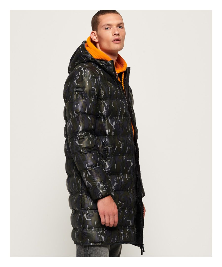 Image for Superdry Echo Quilt Longline Puffer Coat