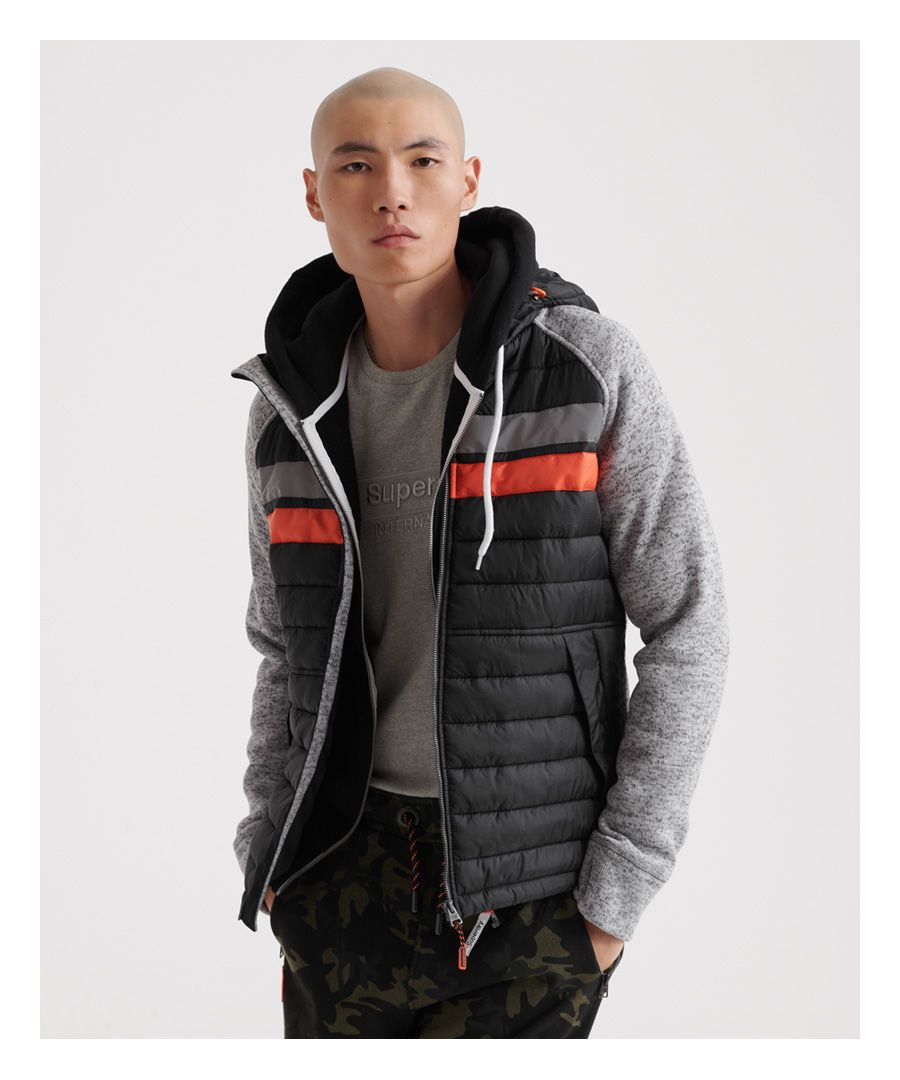 Image for Superdry Storm Chest Stripe Hybrid Zip Hoodie