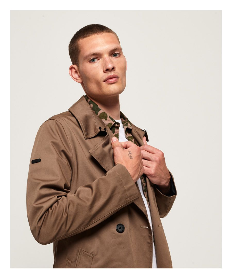 Image for Superdry Edit Double Breasted Mac Jacket