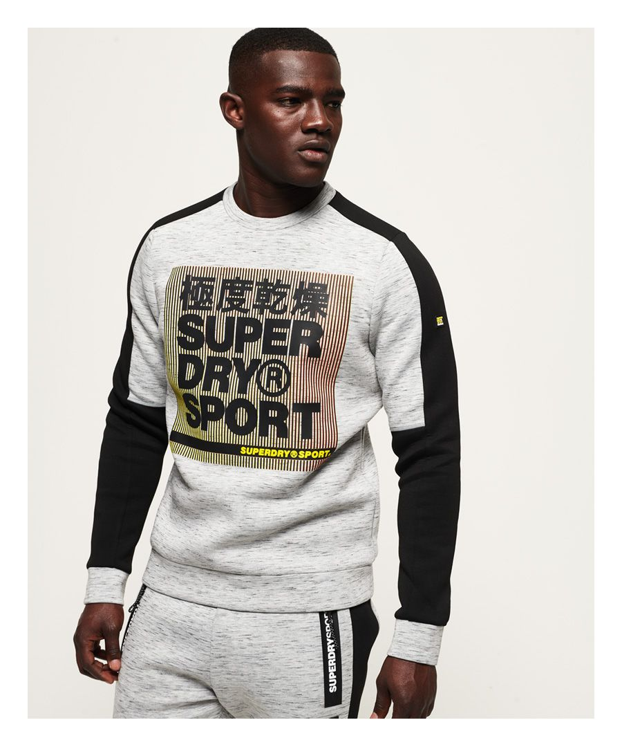 Image for Superdry Gym Tech Colour Block Crew Sweatshirt