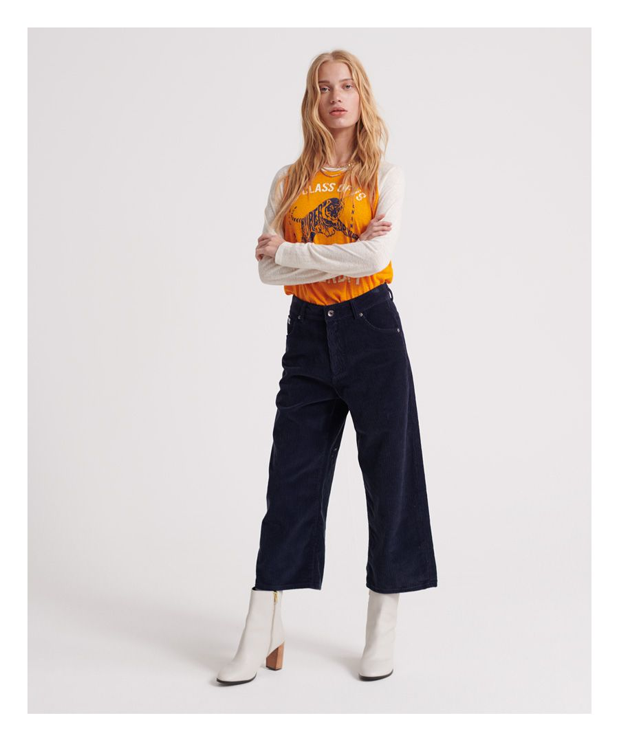 Image for Superdry Phoebe Wide Leg Cord Trousers