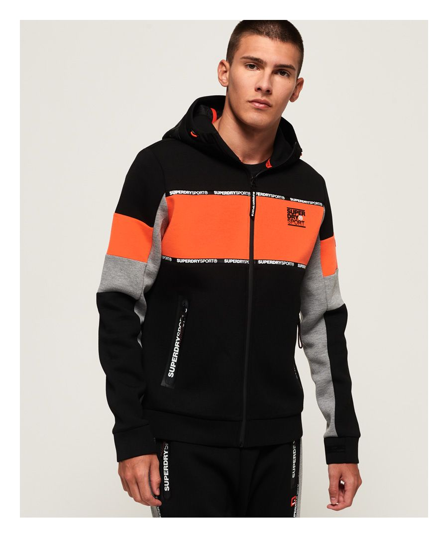 Image for Superdry Gym Tech Stretch Blocked Zip Hoodie