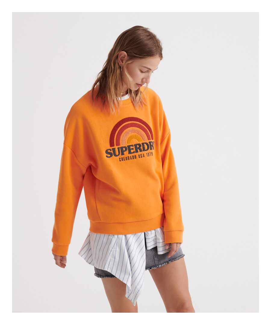 Image for Superdry Raven Panelled Crew Sweatshirt
