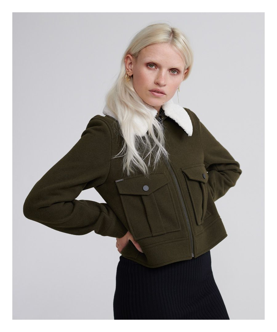 Image for Superdry Selena Cropped Wool Jacket
