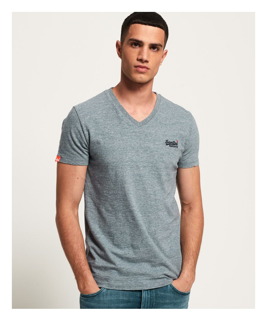 Image for Superdry Organic Cotton Vintage Embroidery Vee T-Shirt