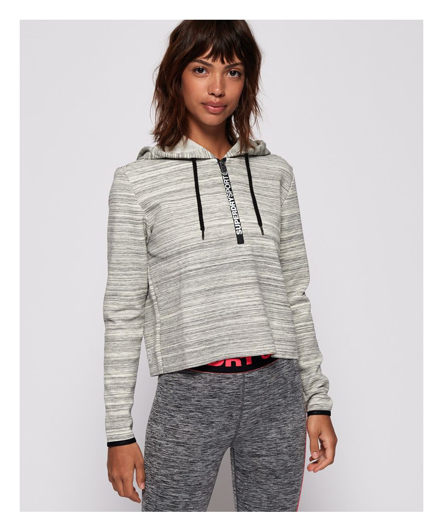 Image for Superdry SD Sport Gym Tech Luxe Crop Hoodie