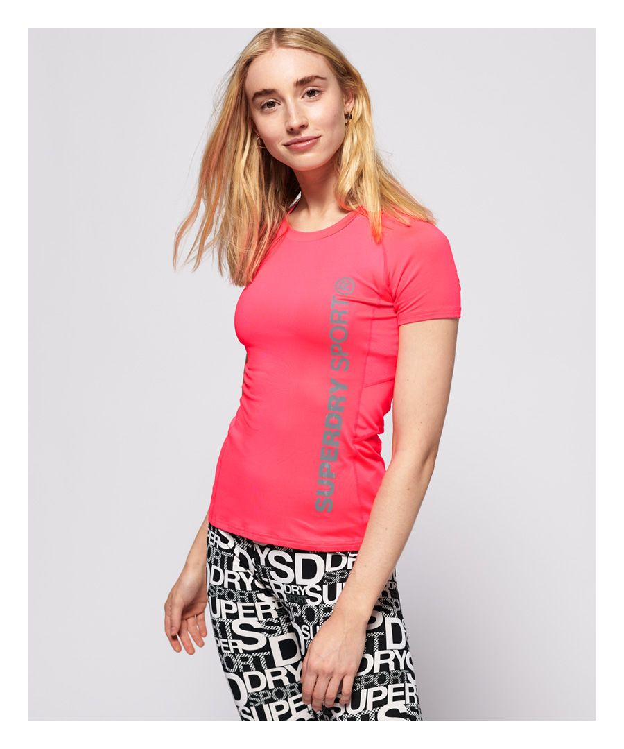 Image for Superdry Core Fitted Mesh Panel T-Shirt