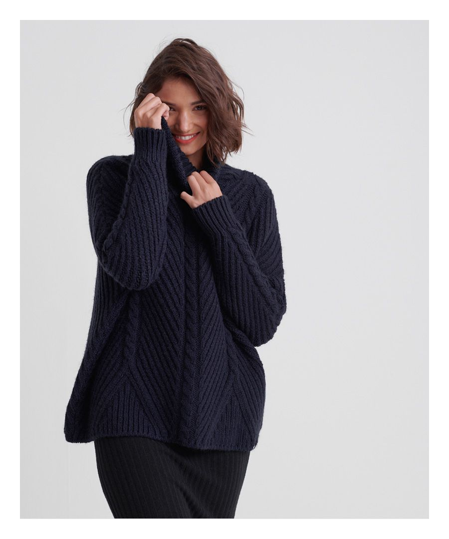 Image for Superdry Tori Cable Cape Knit Jumper