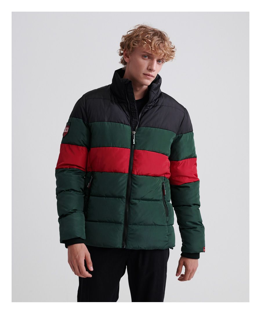 Image for Superdry Colour Stripe Sports Puffer Jacket