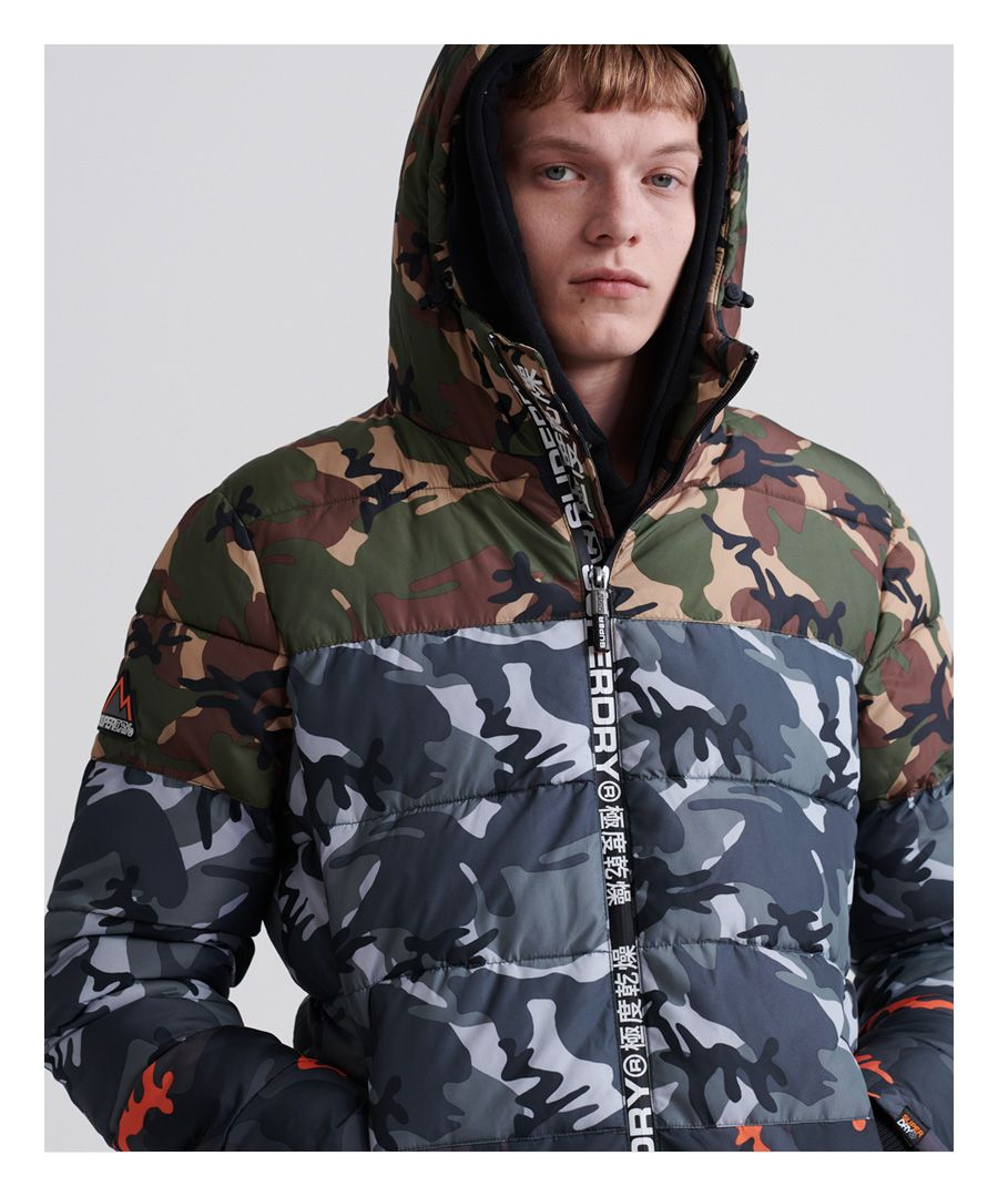 Image for Superdry Camo Mix Sports Puffer Jacket