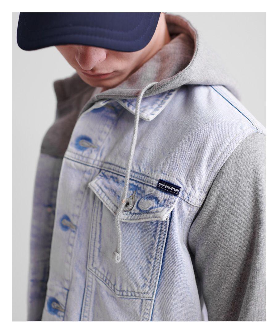 Image for Superdry Hooded Highwayman Trucker Jacket