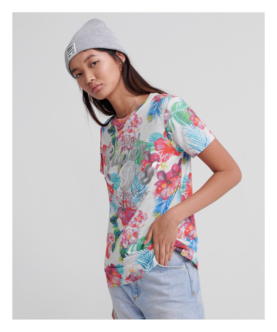 Image for Superdry Original Hibiscus T-Shirt
