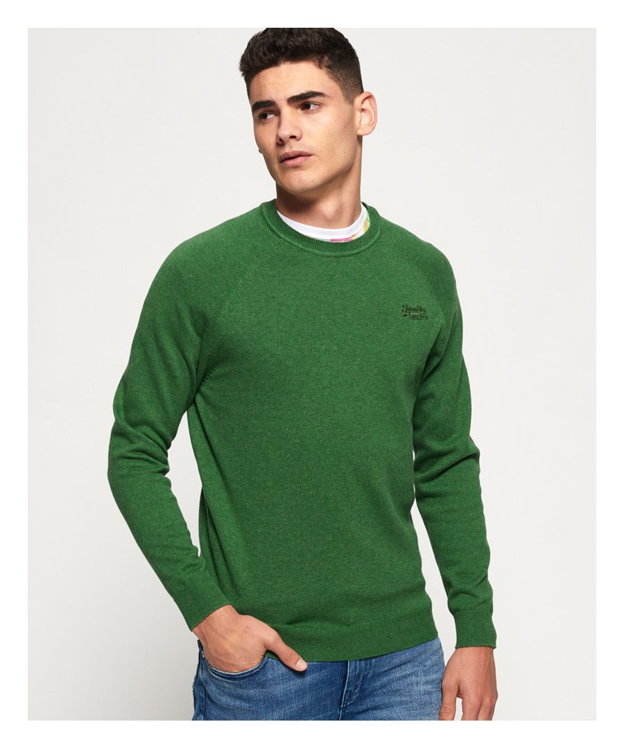 Image for Superdry Orange Label Cotton Crew jumper