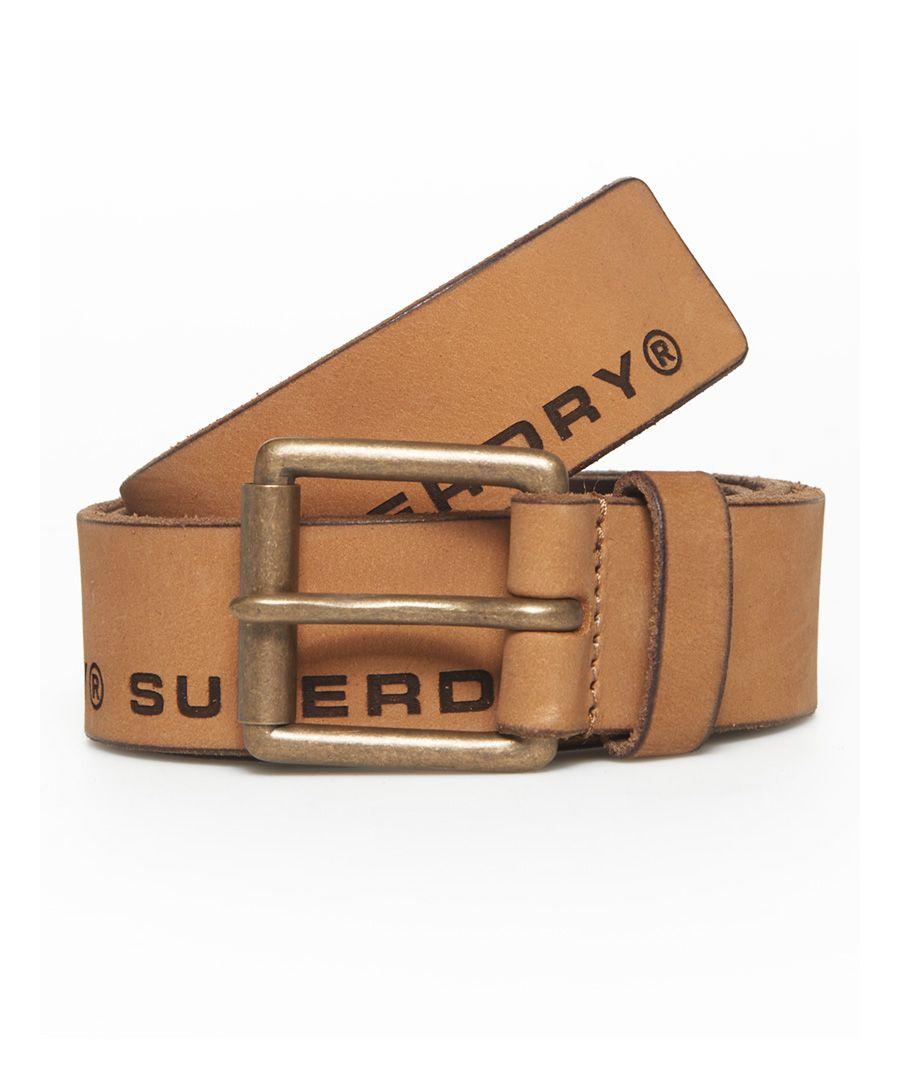 Image for Superdry Edge Logo Leather Belt