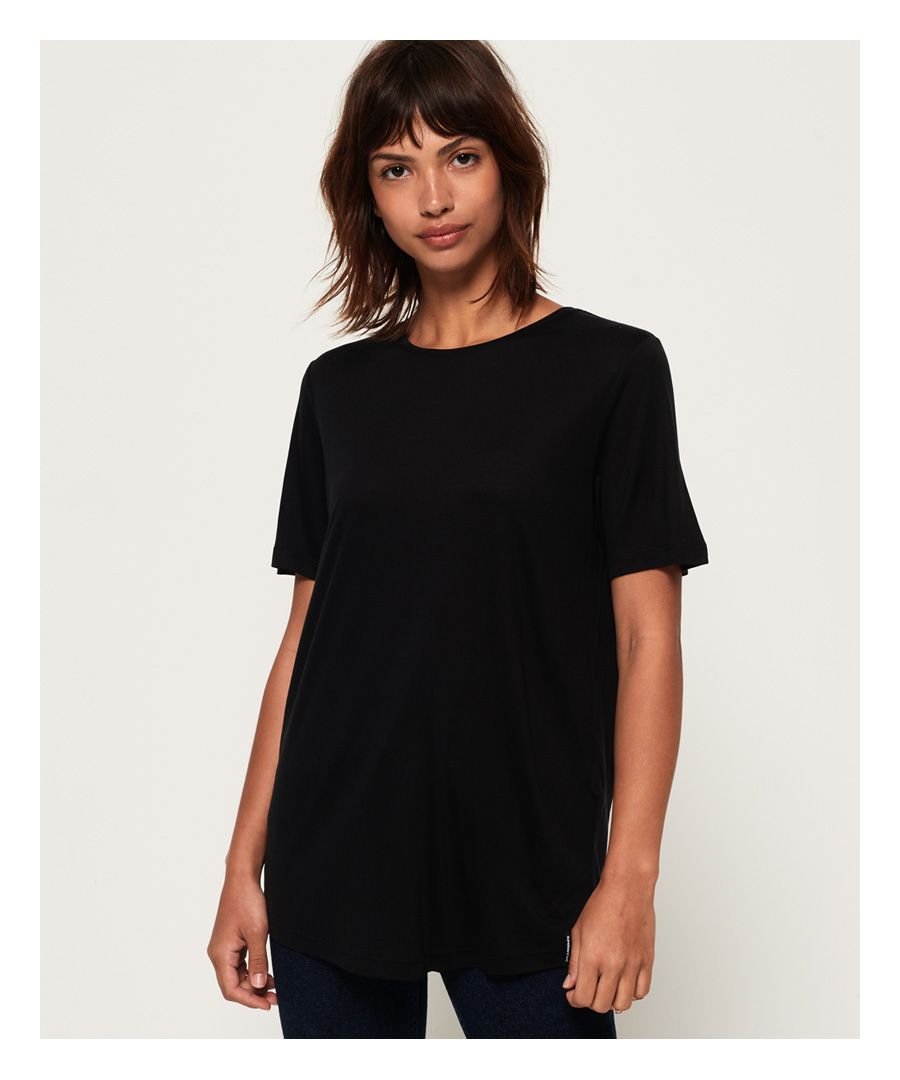 Image for Superdry Edit Tencel Crew Neck T-Shirt