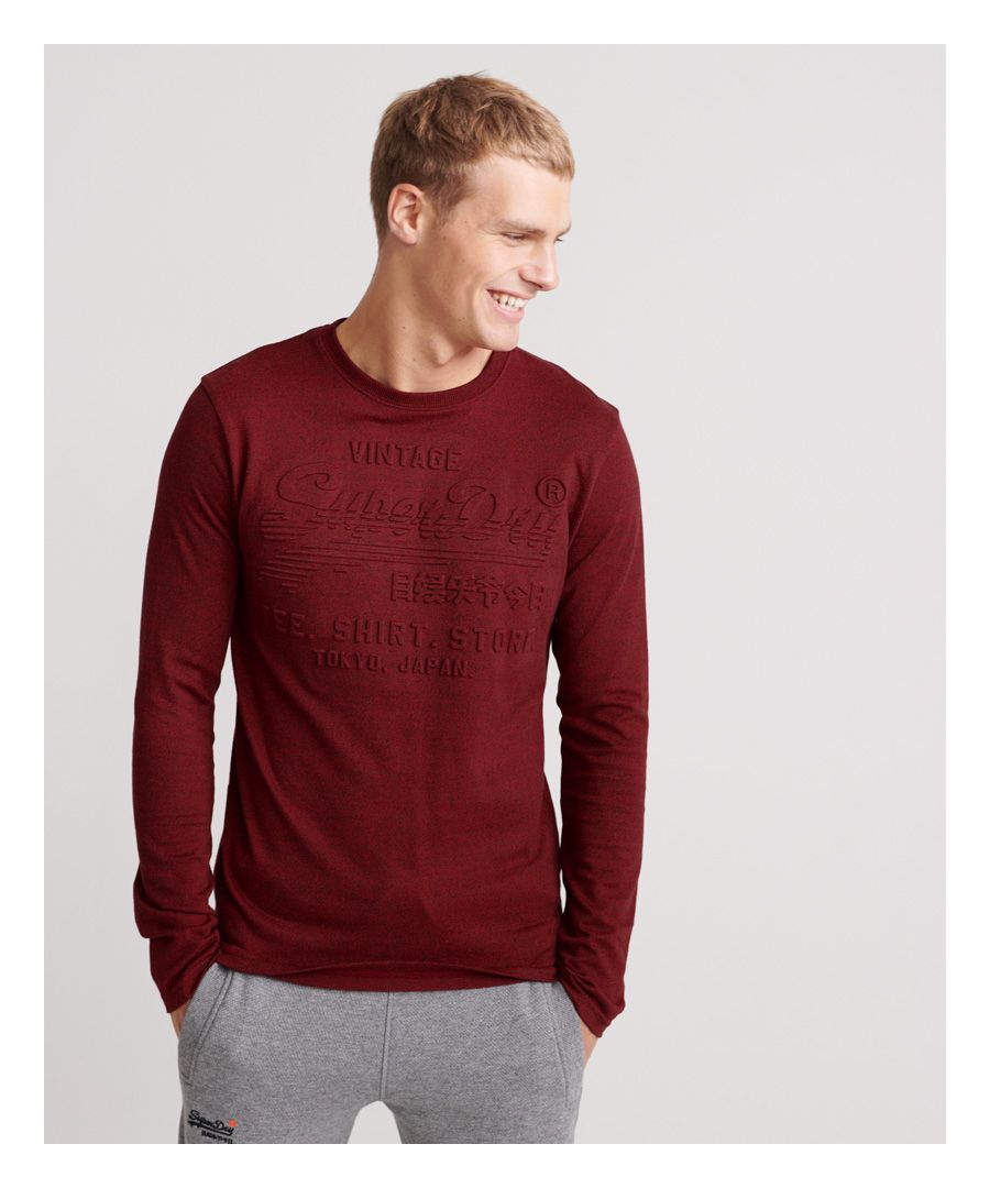 Image for Superdry Shirt Shop Embossed Long Sleeve T-Shirt