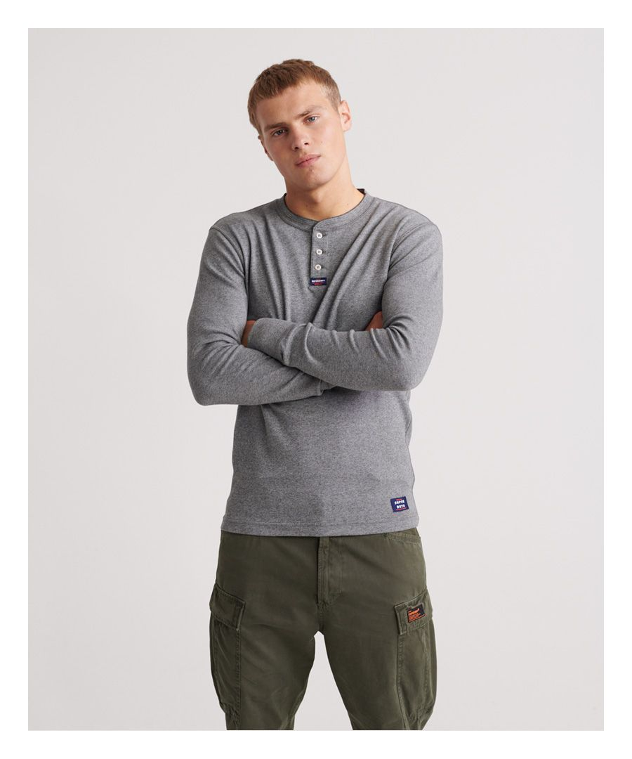 Image for Superdry Heritage Long Sleeve Henley Top