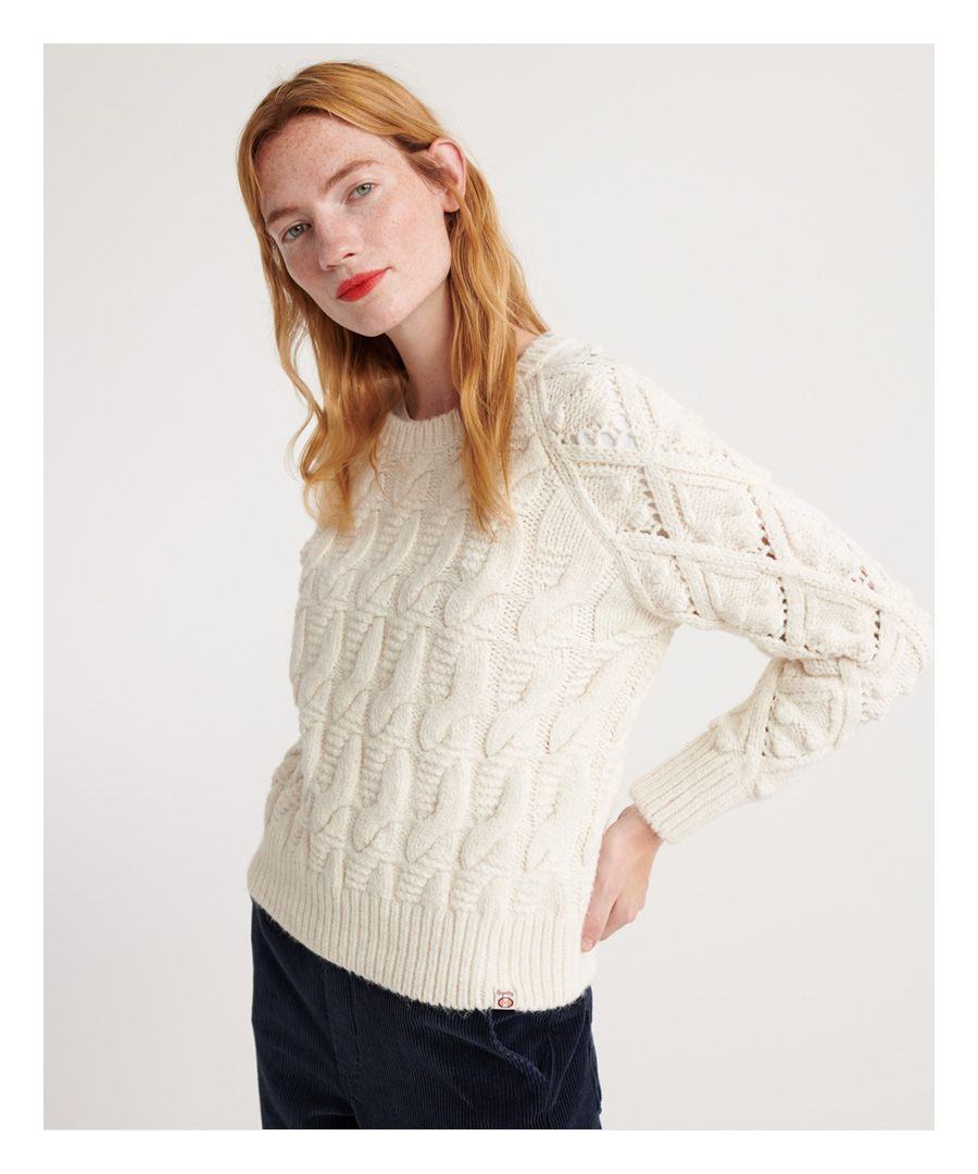 Image for Superdry Sophie Ann Cable Knit