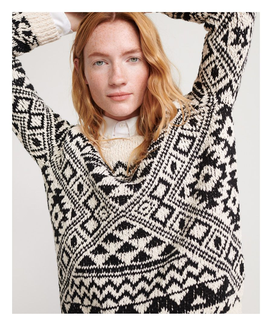 Image for Superdry Rodeo West Textured Intarsia Jumper