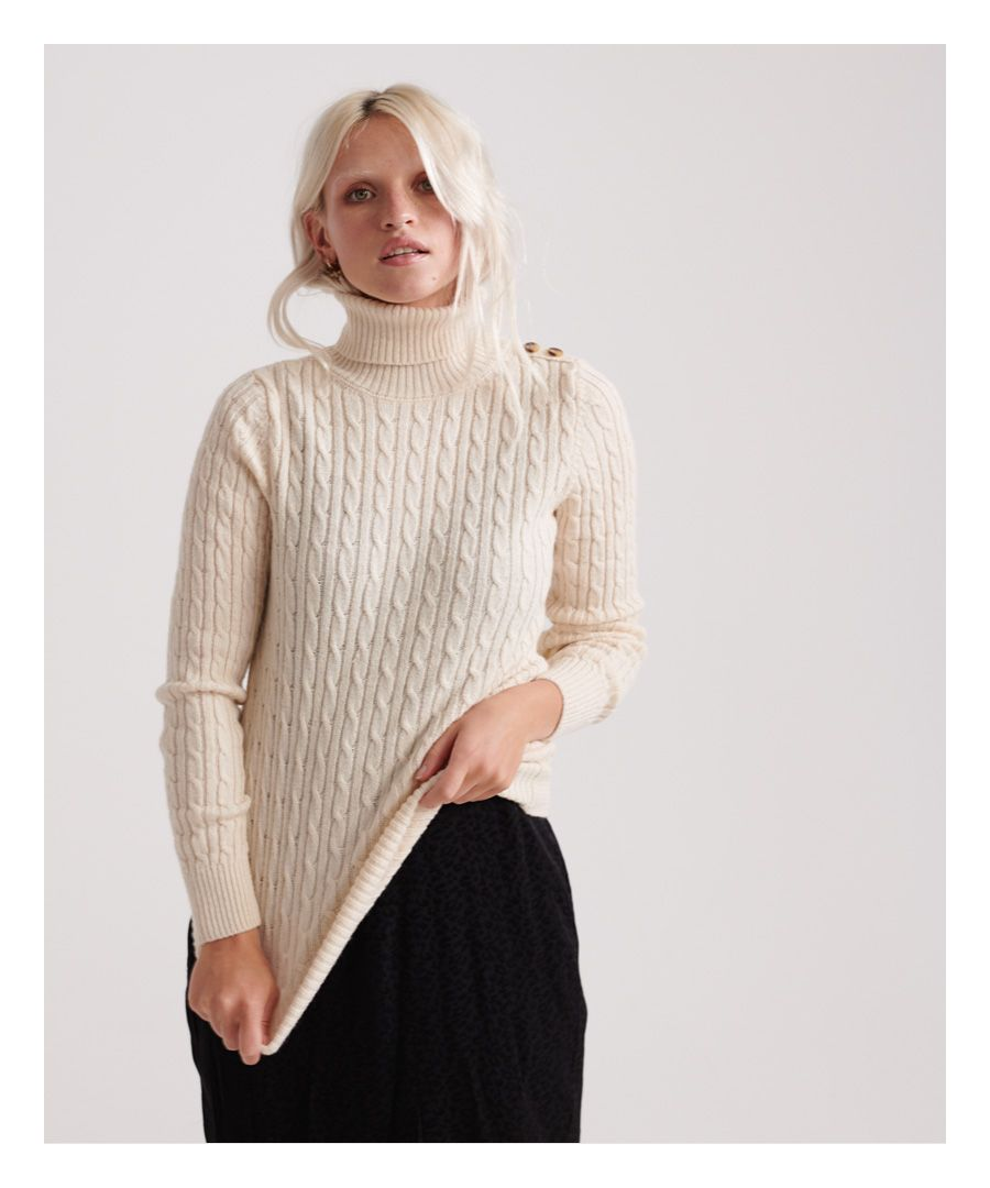 Image for Superdry Croyde Cable Roll Neck