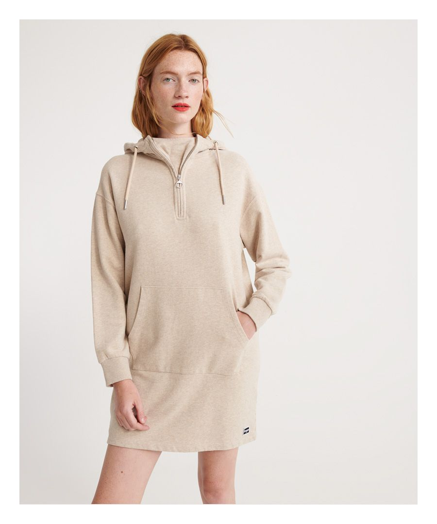 Image for Superdry Zip Front Sweat Dress
