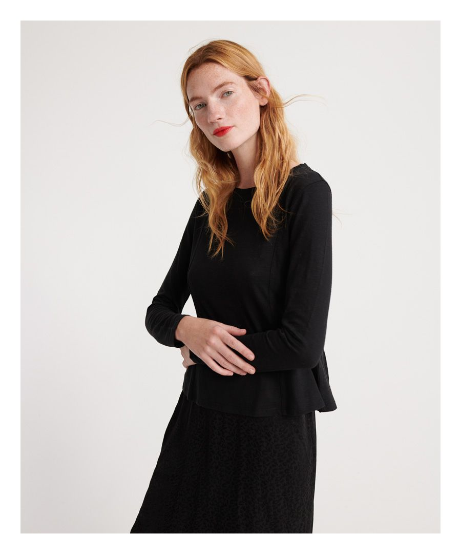 Image for Superdry Peplum Rodeo Long Sleeved Top