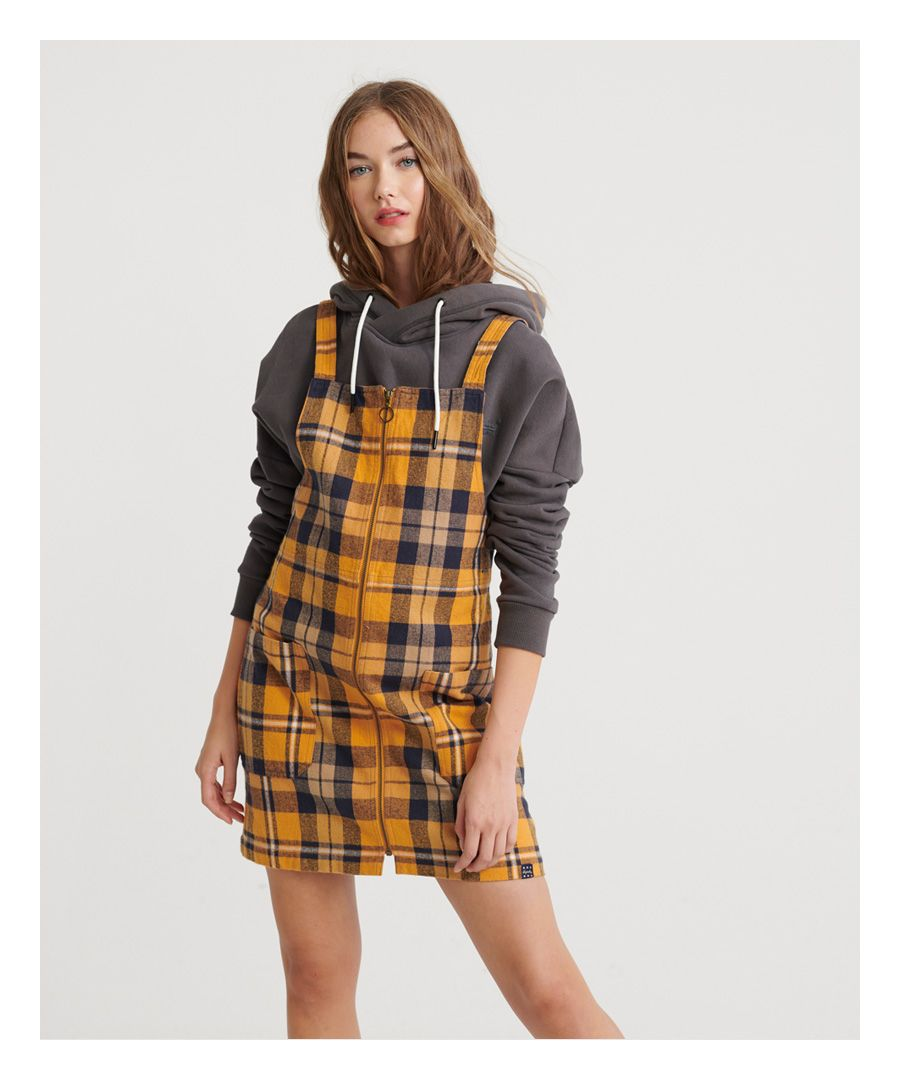 Image for Superdry Check Pinafore Dress