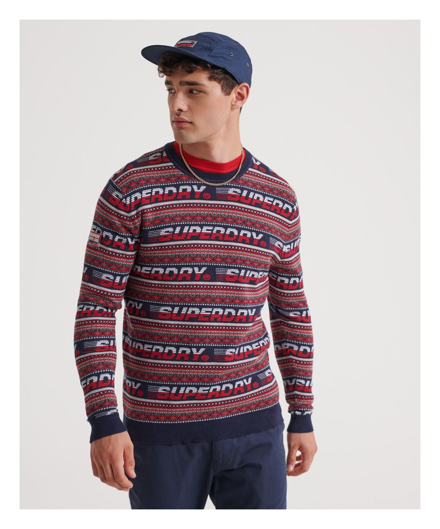 Image for Superdry Downhill Jaquard Crew Jumper