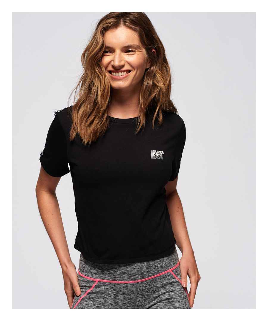 Image for Superdry Core Crop Branded T-Shirt