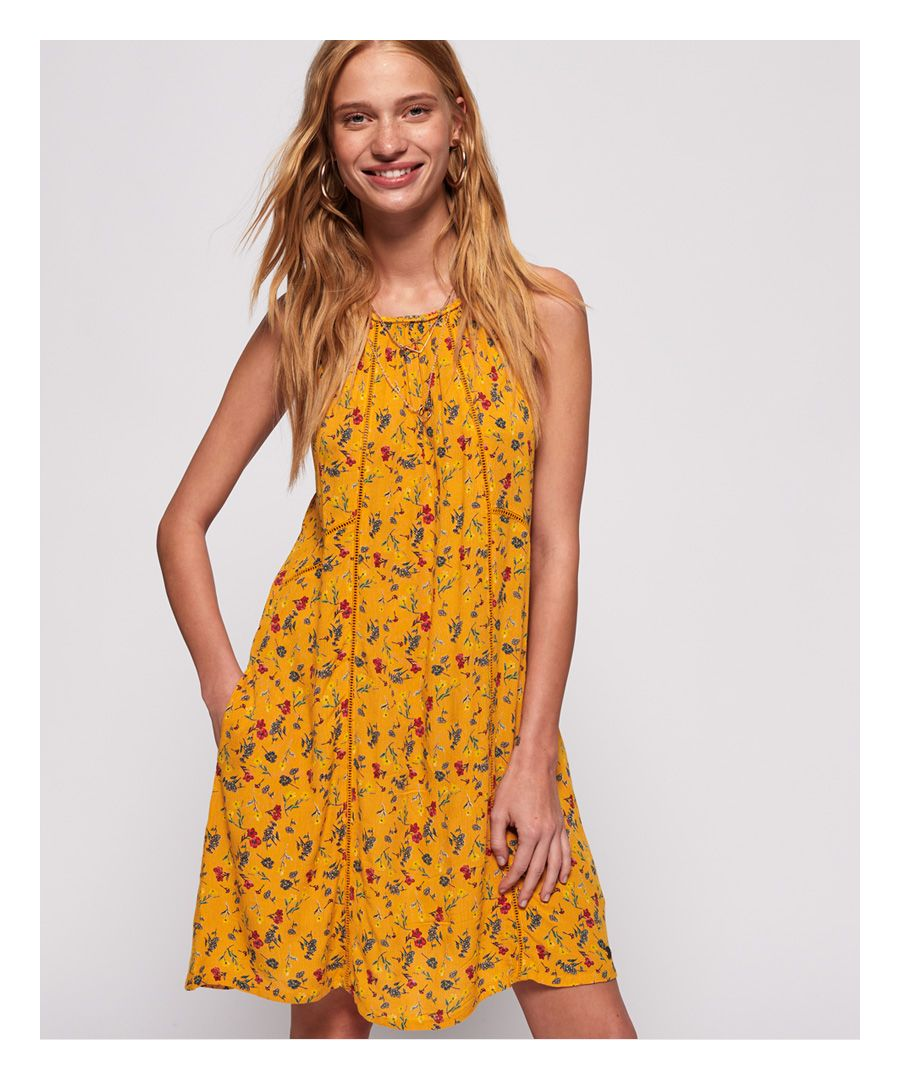 Image for Superdry Riley Lace Halter Dress