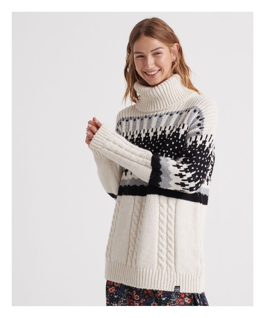 Image for Superdry Gia Intarsia Slouch Knit Jumper