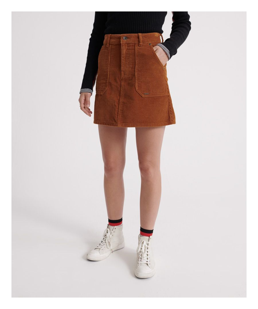 Image for Superdry Cord A-Line Skirt