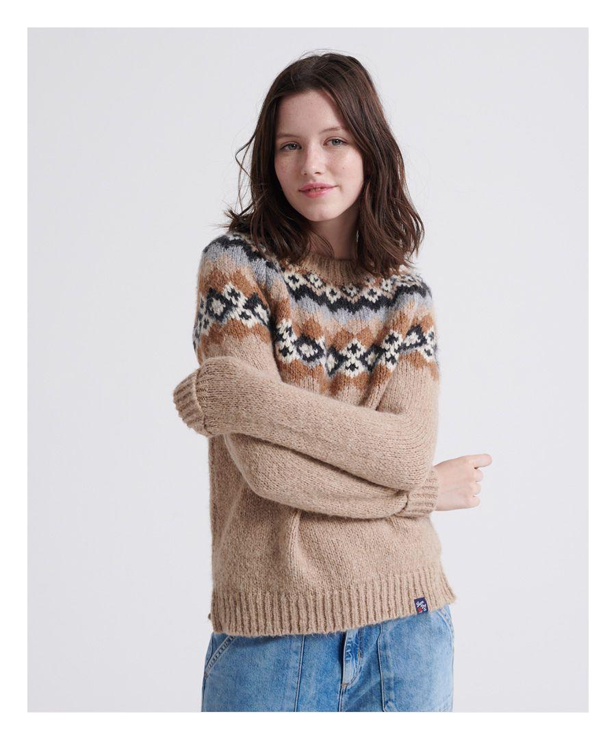 Image for Superdry Savannah Yoke Jacquard Knitted Jumper