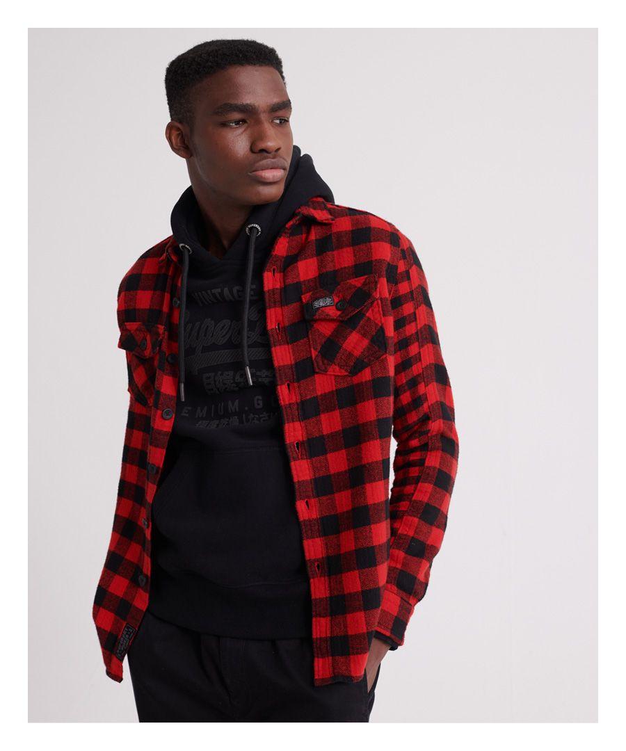 Image for Superdry Buffalo Flannel Long Sleeved Shirt